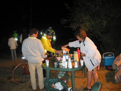 A coffee stop provided by local villagers